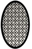 rug #110969 | oval white geometry rug