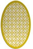 rug #110973 | oval white borders rug