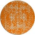rug #1109794 | round orange traditional rug