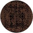 rug #1109810 | round black faded rug