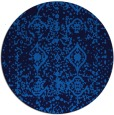 rug #1109826 | round blue faded rug