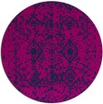 rug #1109830 | round pink traditional rug