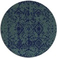 rug #1109834 | round blue faded rug