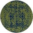 rug #1109838 | round green damask rug