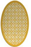 rug #110985 | oval yellow rug