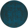 rug #1109862 | round blue traditional rug