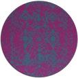 rug #1109878   round pink damask rug