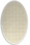 rug #110989 | oval yellow rug