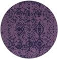 rug #1109894   round purple damask rug
