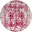 rug #1109914 | round red traditional rug