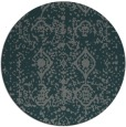 rug #1109926 | round blue-green faded rug
