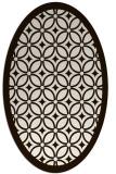 rug #110993 | oval brown circles rug