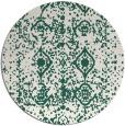 rug #1109930 | round green damask rug