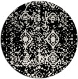 rug #1109938 | round black traditional rug