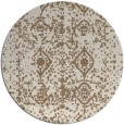 rug #1109950 | round beige damask rug