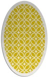 rug #110997 | oval yellow circles rug