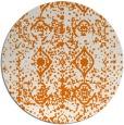 rug #1110002 | round orange rug