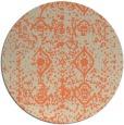 rug #1110006 | round orange faded rug