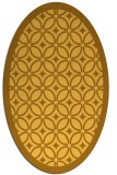 rug #111001 | oval light-orange popular rug