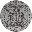 rug #1110010 | round red-orange damask rug
