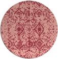 rug #1110022 | round pink damask rug