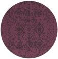 rug #1110030   round purple popular rug