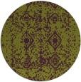 rug #1110034 | round purple damask rug