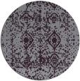 rug #1110042   round purple damask rug