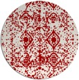 rug #1110046 | round red damask rug