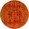 rug #1110050 | round orange damask rug