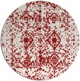 rug #1110054 | round red traditional rug