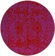 rug #1110058 | round red traditional rug