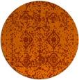 rug #1110062   round red-orange traditional rug