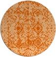 rug #1110066 | round red-orange damask rug