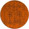 rug #1110070 | round red-orange damask rug