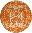 rug #1110074 | round red-orange traditional rug