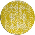 rug #1110086 | round white faded rug