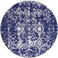 rug #1110090 | round blue traditional rug