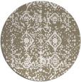 rug #1110106 | round beige damask rug