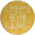 rug #1110110 | round yellow traditional rug
