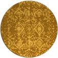 rug #1110122 | round light-orange faded rug