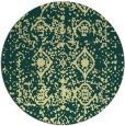 rug #1110126 | round yellow damask rug