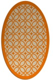 rug #111013 | oval orange borders rug