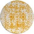 rug #1110146 | round light-orange faded rug