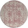 rug #1110150   round pink traditional rug