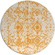 rug #1110158 | round light-orange faded rug