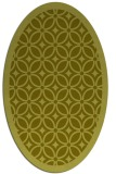 rug #111017 | oval light-green borders rug