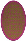rug #111025 | oval light-green borders rug