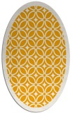 rug #111033 | oval light-orange rug