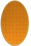 rug #111041 | oval light-orange borders rug